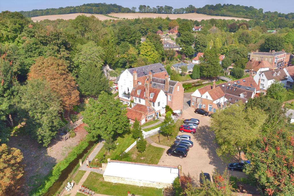 Orchard house, farningham Mill aerial view