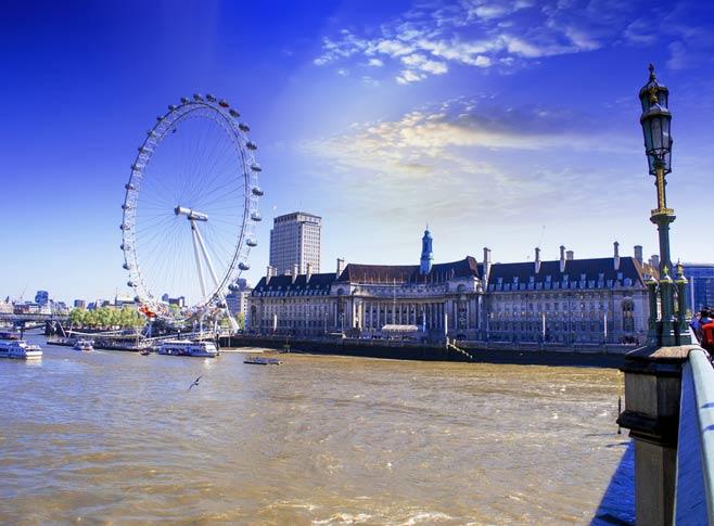 The London Eye and London Aquarium