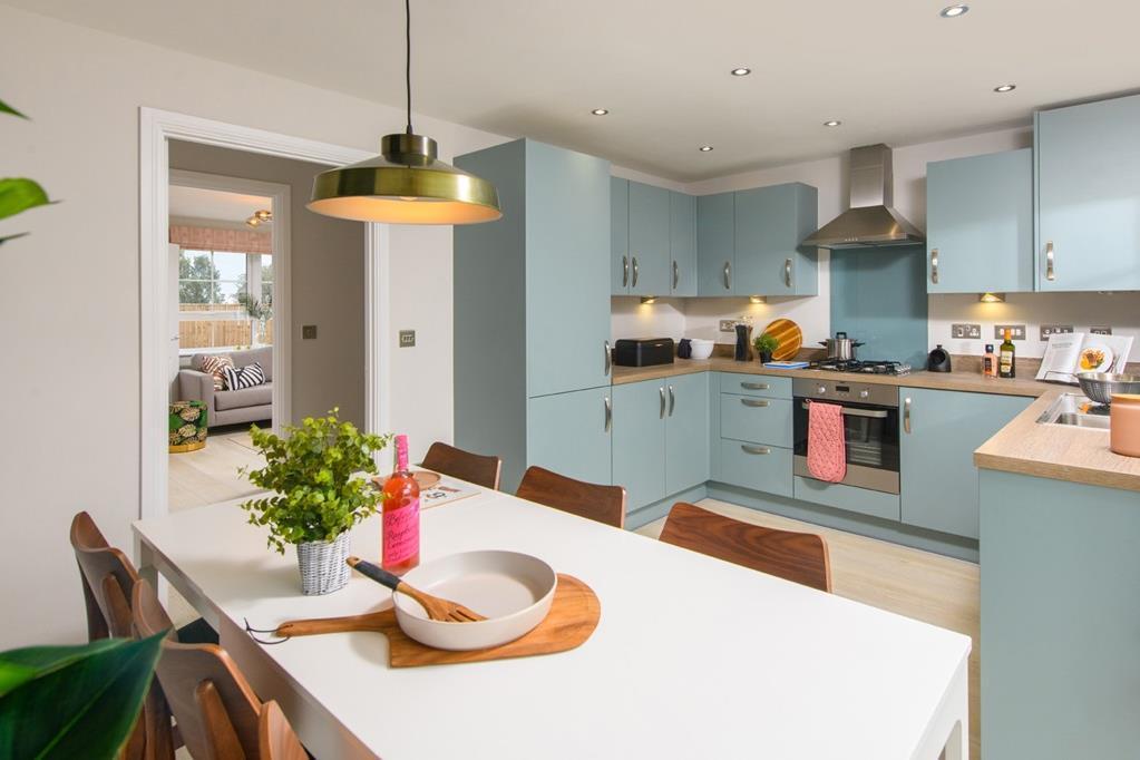 Open plan kitchen inside 3 bed Ellerton home