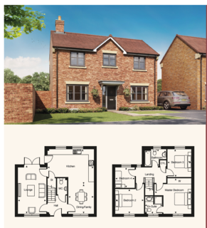 4 bedroom detached house for sale - Plot 17, The Kingston at Eleanor Gardens, The Headlands, Nevenby, Lincolnshire LN5