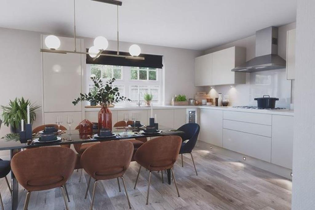 Inside view 4 bed kirkdale kitchen dining area