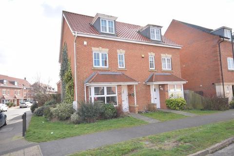 4 bedroom semi-detached house for sale - WITH PARKING & GARAGE - Thistle Drive, Desborough