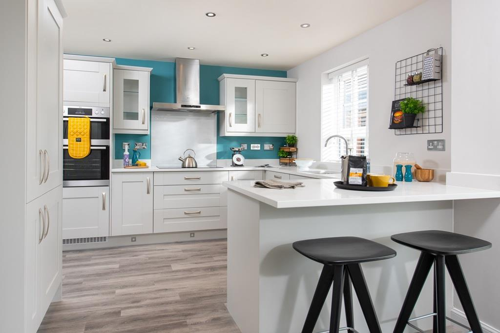 Internal shot of typical style kitchen in Bradgate housetype