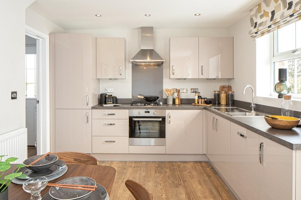 Kitchen and dining area of the Hadley 3 bedroom home
