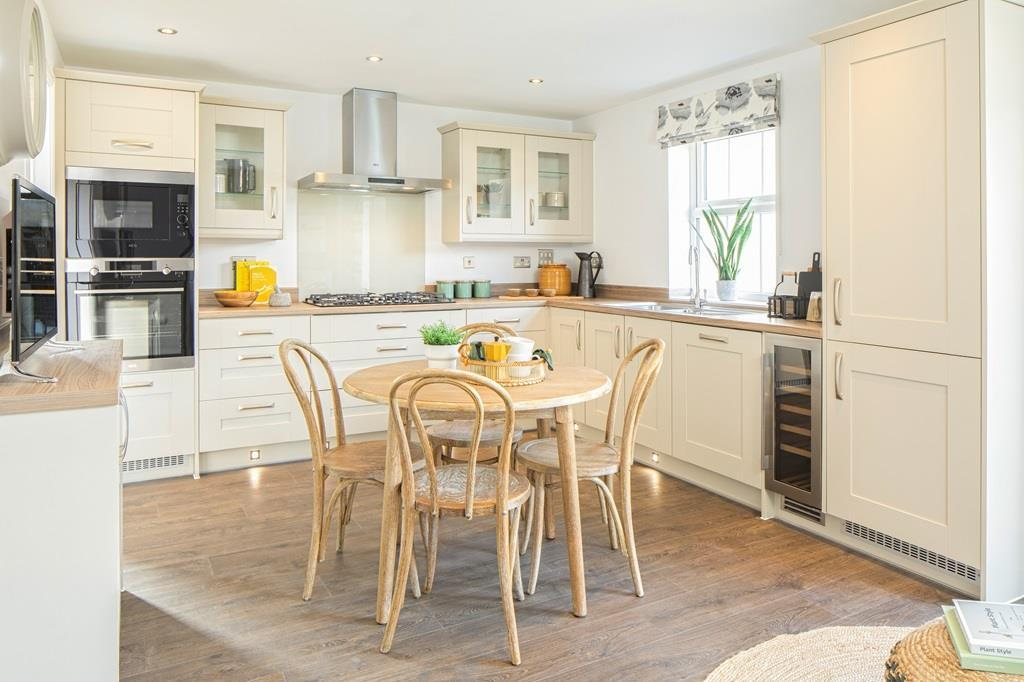 Open plan kitchen in the Chelworth Show Home
