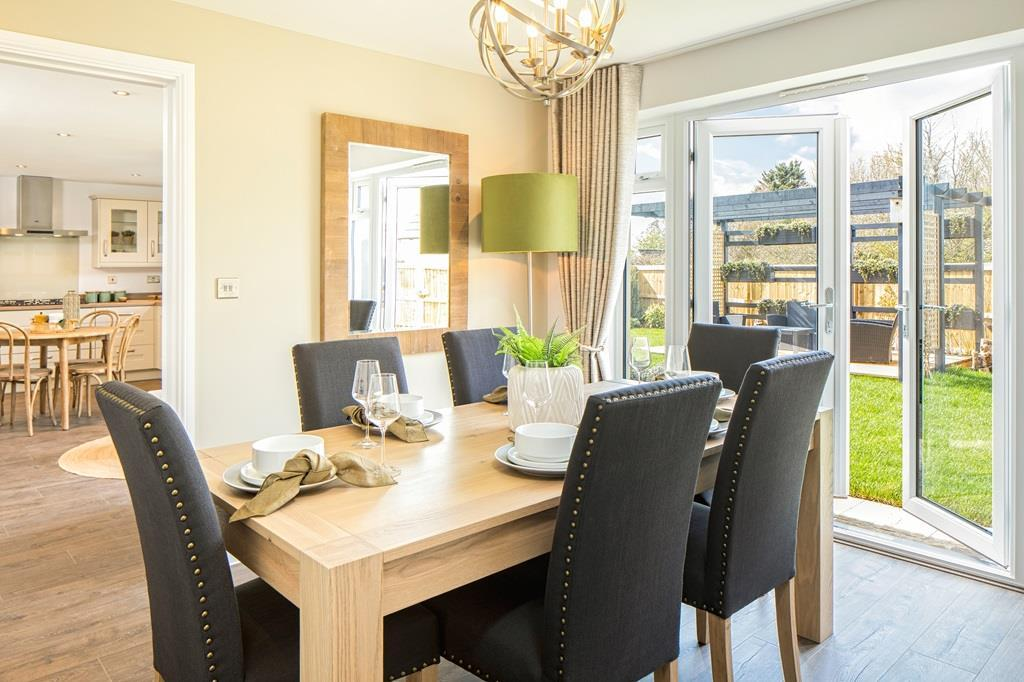Dining room in the Chelworth Show Home