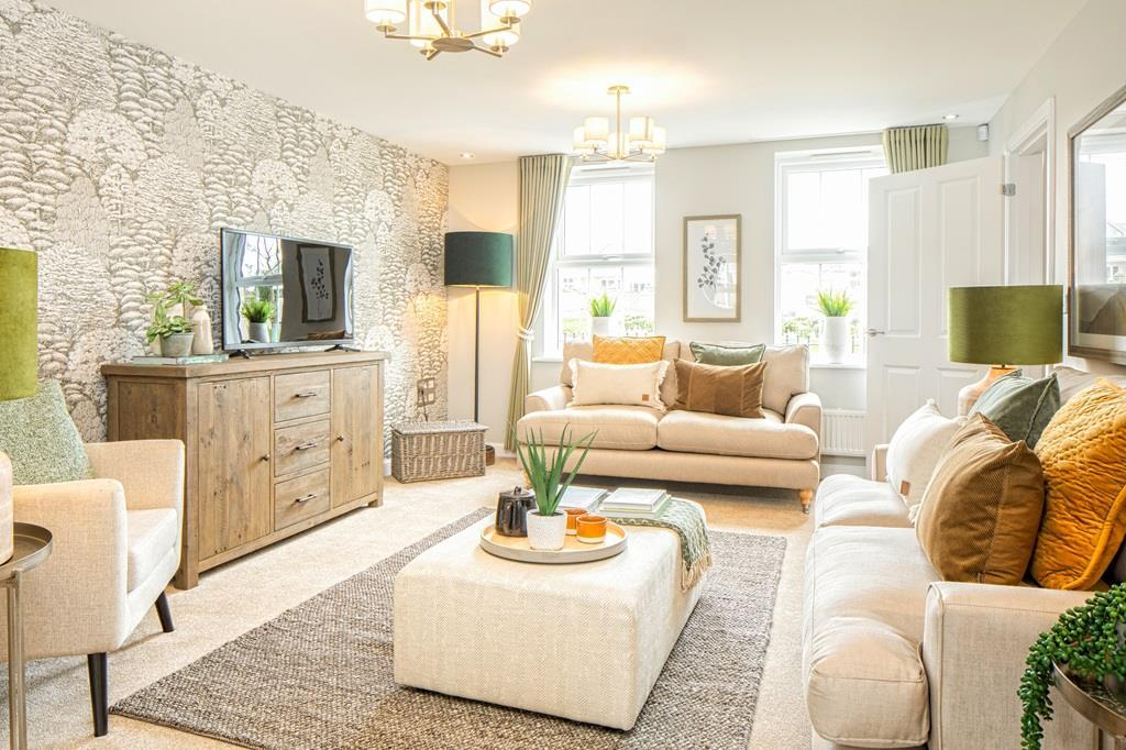 Spacious lounge in the Chelworth Show Home