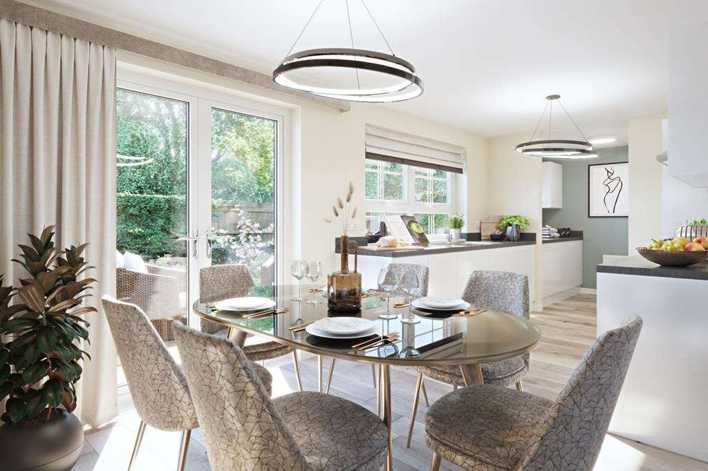Dining area in The Denby 3 bed home