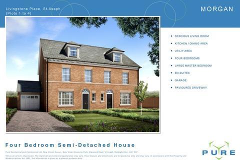 4 bedroom semi-detached house for sale - Livingstone Place, St Asaph