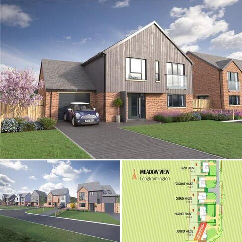 4 bedroom detached house for sale - Cherry House, Meadow View, Longframlington, Northumberland, NE65