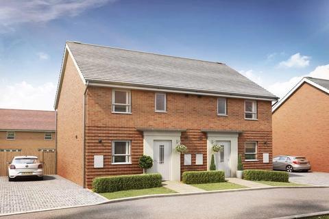 3 bedroom end of terrace house for sale - Plot 143, Folkestone at Canal Quarter at Kingsbrook, Burcott Lane, Aylesbury, AYLESBURY HP22