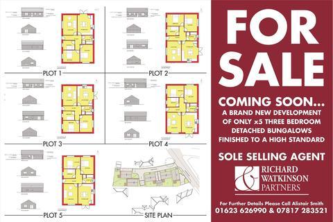 3 bedroom detached bungalow for sale - Plot 1 Kings Court, Alfreton Road, Sutton-in-Ashfield