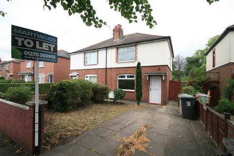 2 bedroom semi-detached house to rent - Badger Avenue, Crewe