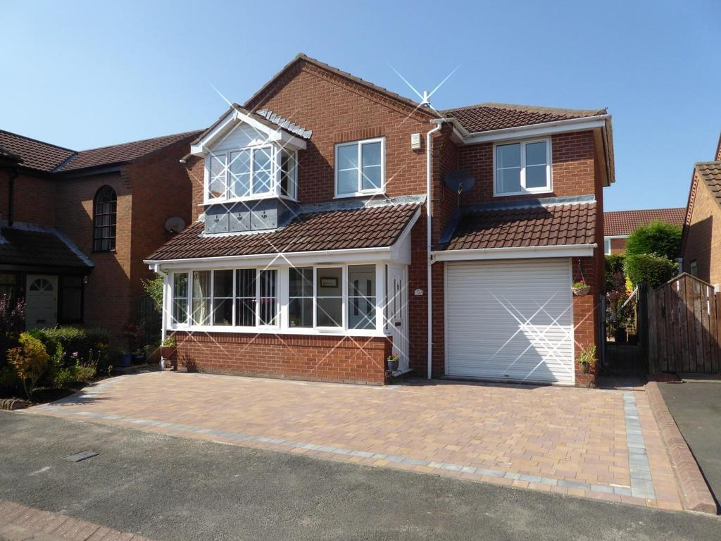 4 Bedrooms Detached House for sale in Shotley Court, Wellhead Dene, Ashington