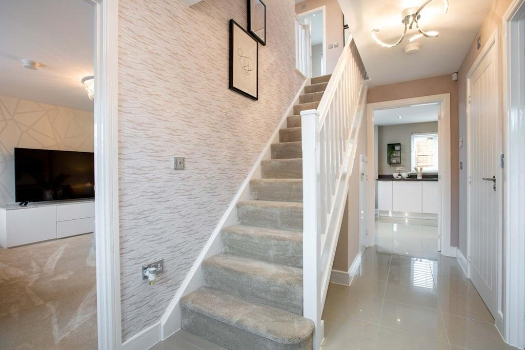 Hallway and convenient cloakroom