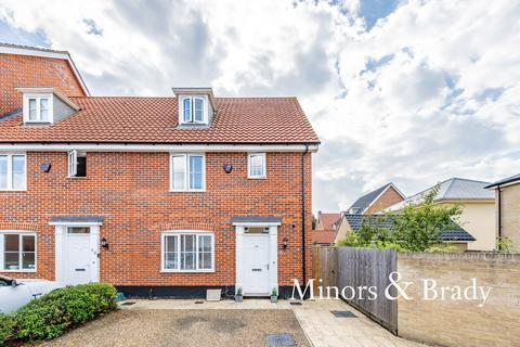 3 bedroom end of terrace house for sale - Avocet Rise, Sprowston
