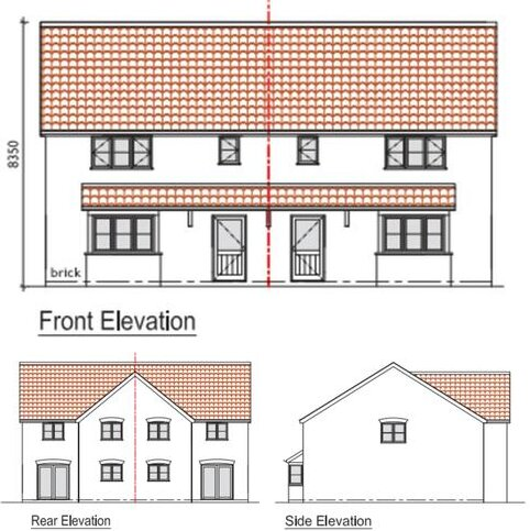 3 bedroom semi-detached house for sale - Plot 1 Orchard Close