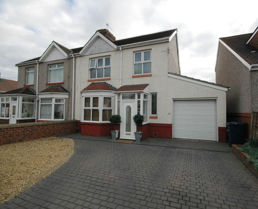 3 Bedrooms Semi Detached House for sale in Dulverton Avenue, South Shields
