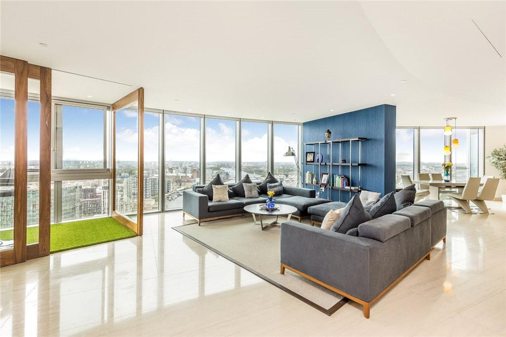 3 Bedrooms Flat for sale in The Tower, One St George Wharf, Nine Elms, Vauxhall, London, SW8