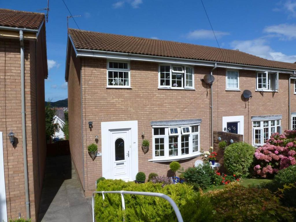 3 Bedrooms End Of Terrace House for sale in 26 Alwen Drive, Rhos on Sea, LL28 4YB