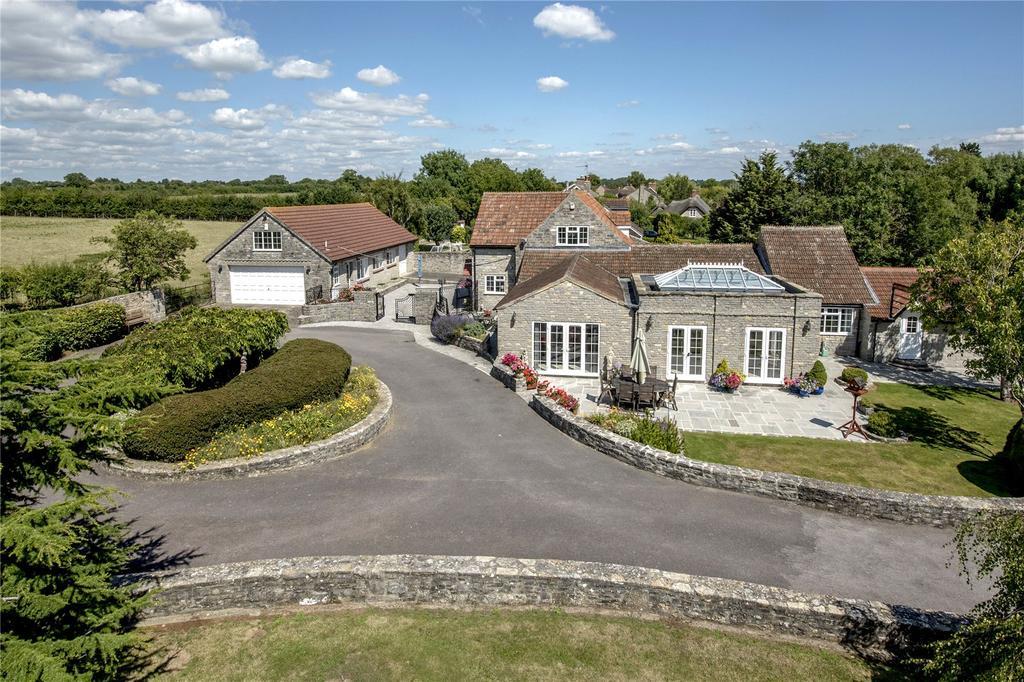 4 Bedrooms Detached House for sale in Pibsbury, Langport, Somerset