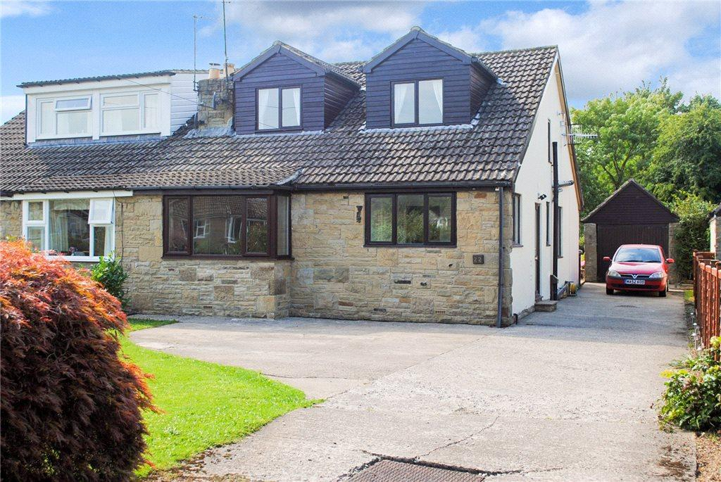 4 Bedrooms Semi Detached Bungalow for sale in Church Avenue, Dacre Banks, Harrogate, North Yorkshire