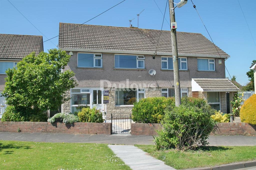 3 Bedrooms Semi Detached House for sale in St Mellons Road, Marshfield, Cardiff