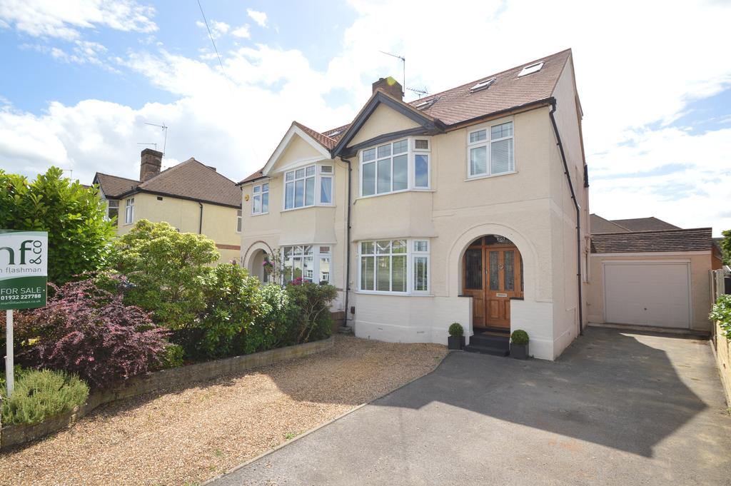 4 Bedrooms Semi Detached House for sale in King George Avenue, WALTON ON THAMES KT12