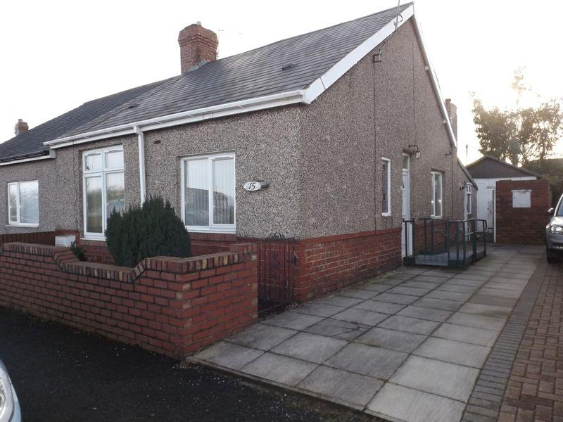 2 Bedrooms Bungalow for sale in Stead Lane, Bedlington - Two Bed Semi Detached Bungalow