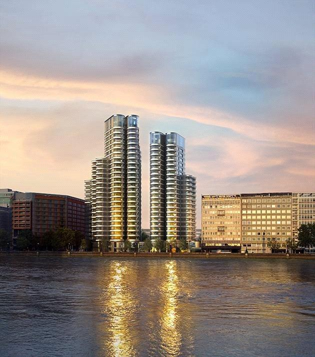 3 Bedrooms Flat for sale in The Corniche, Tower Two, Albert Embankment, London