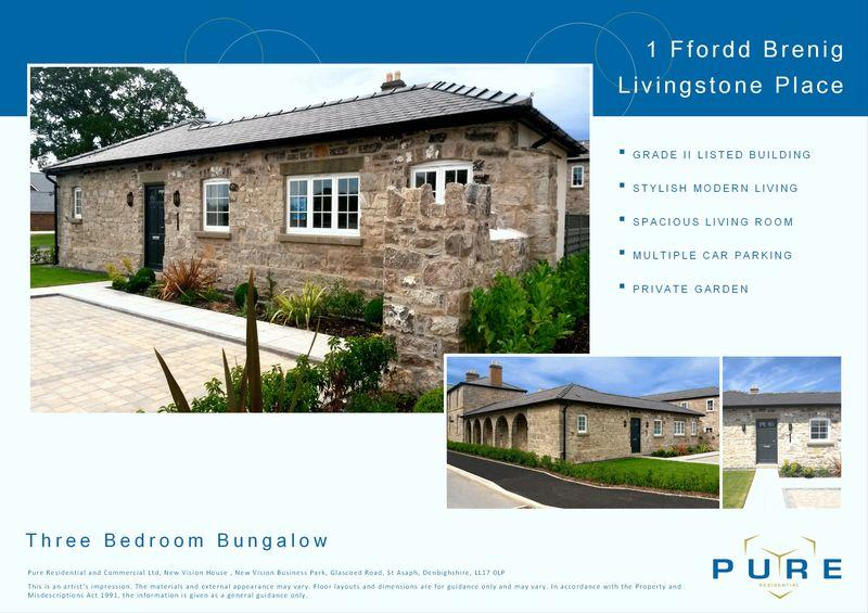 3 Bedrooms Bungalow for sale in Livingstone Place, St. Asaph