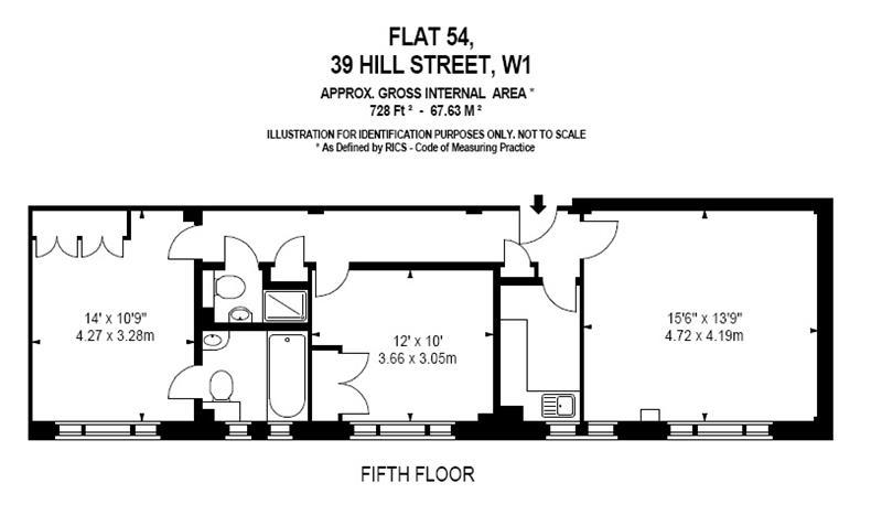 Floorplan: 728 sq ft