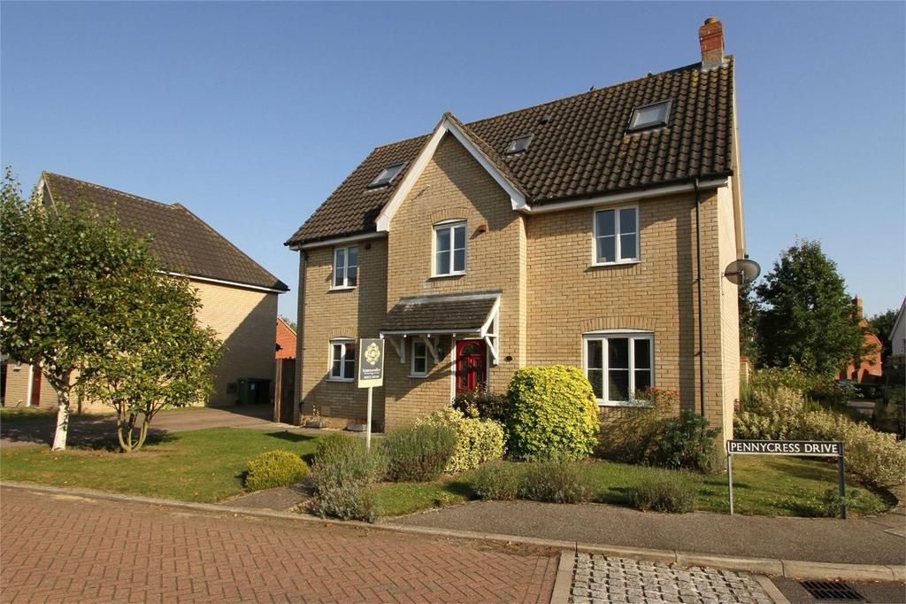 5 Bedrooms Detached House for sale in Pennycress Drive, Wymondham, Norfolk