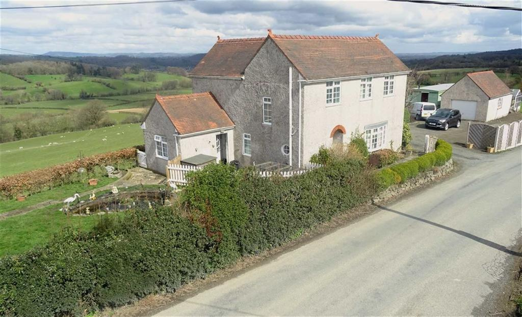 4 Bedrooms Detached House for sale in Groes-Pluen, Welshpool