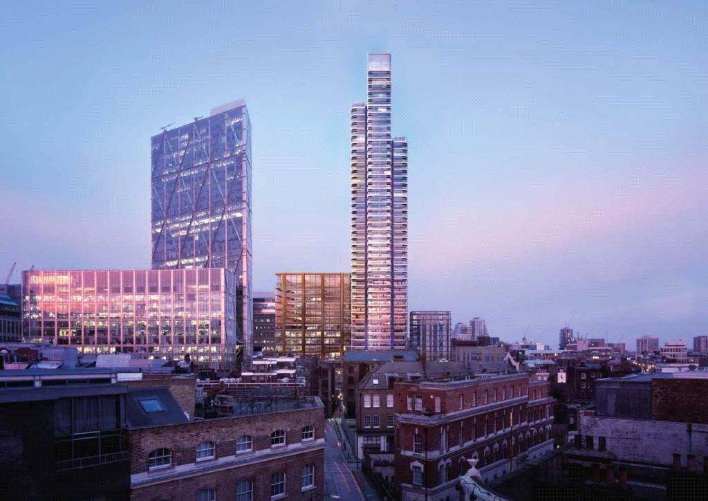 3 Bedrooms Flat for sale in Principal Tower, 115 Worship Street, City, London, EC2A