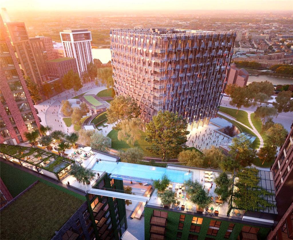 3 Bedrooms Flat for sale in Embassy Gardens, Ponton Road, Nine Elms, Vauxhall, London, SW8