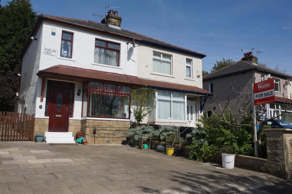 3 Bedrooms Semi Detached House for sale in Poplar Crescent, Windhill, Shipley, BD18 2HH