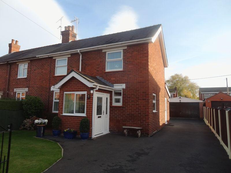 2 Bedrooms Semi Detached House for sale in Mountain View, Rossett, LL12 0ET