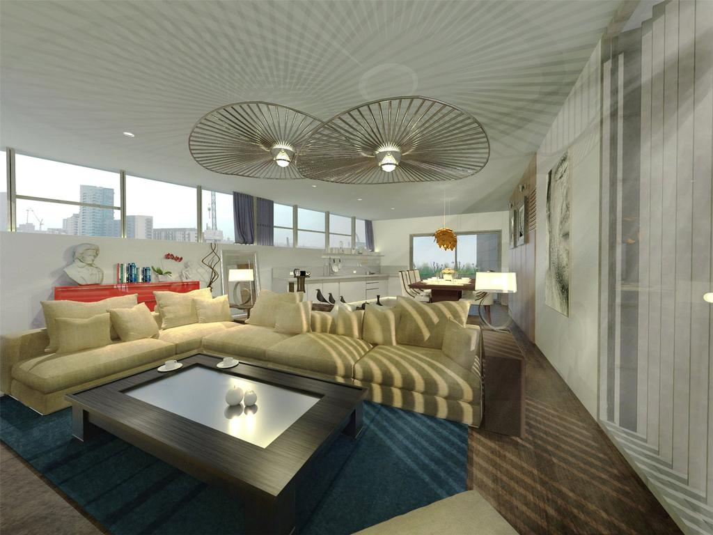 2 Bedrooms Penthouse Flat for sale in Taylor Place, London