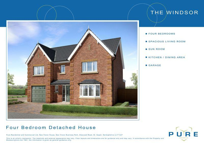 4 Bedrooms Detached House for sale in Plot 18, Llys Chatsworth