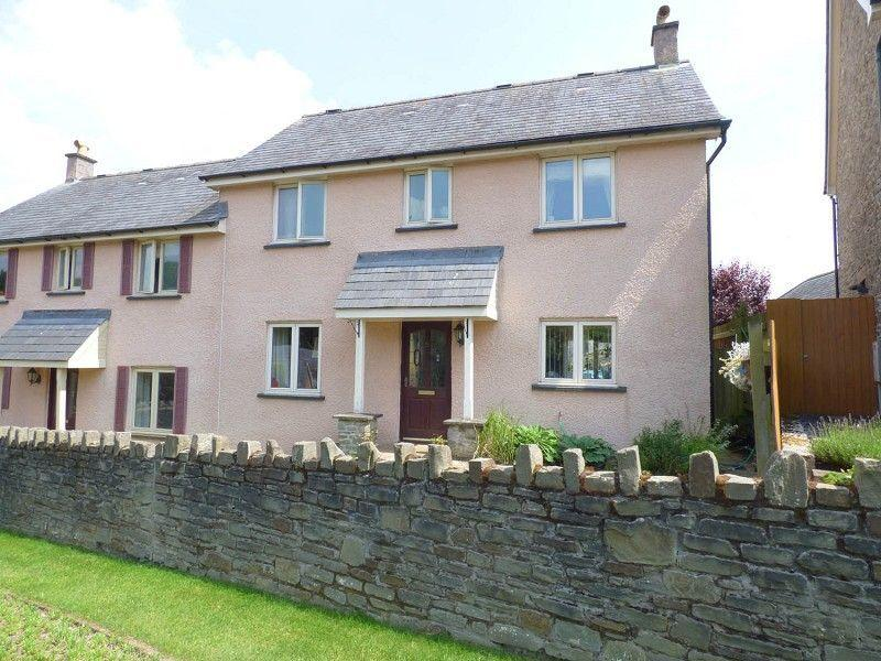 3 Bedrooms Semi Detached House for sale in Chapel Field, Llangattock, Crickhowell, Powys.