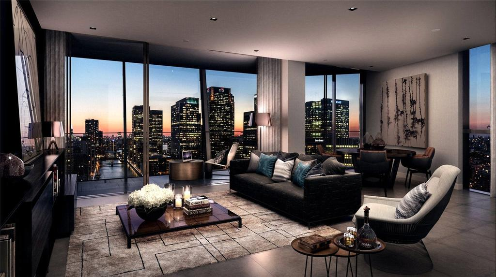 1 Bedroom Flat for sale in Dollar Bay, Marsh Wall, Canary Wharf, London