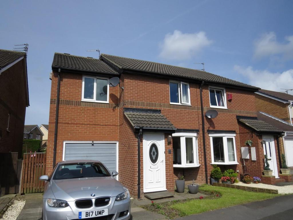 3 Bedrooms Semi Detached House for sale in Ryedale Close, Fallowfield, Ashington