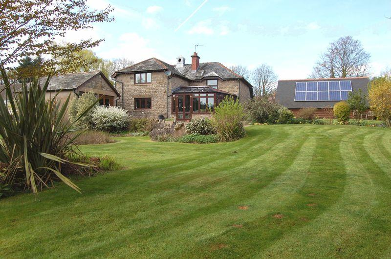 4 Bedrooms Detached House for sale in Attractive detached stone former school house, in a large garden with triple garage and garden room/workshop