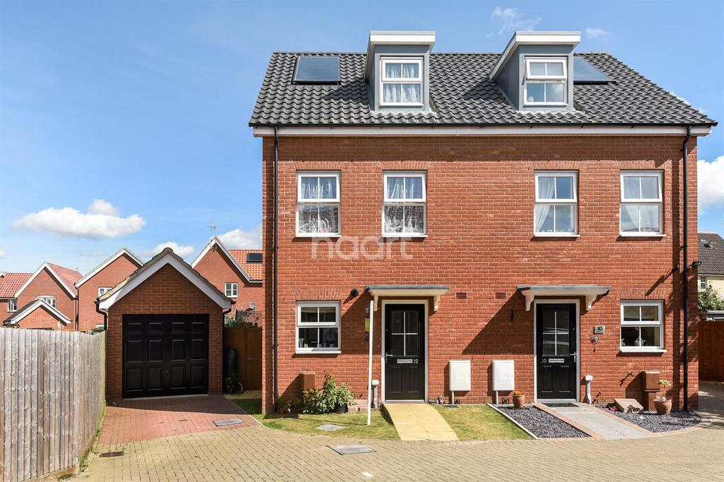 3 Bedrooms Semi Detached House for sale in Buttermere Way, Carlton Colville