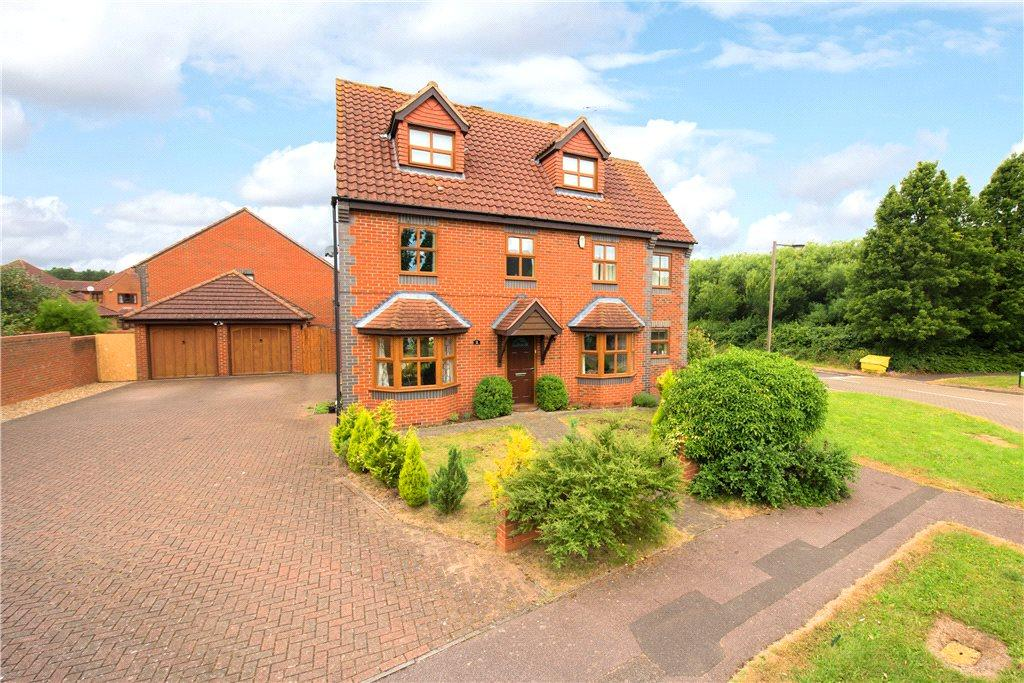 5 Bedrooms Detached House for sale in Noon Layer Drive, Middleton, Milton Keynes, Buckinghamshire
