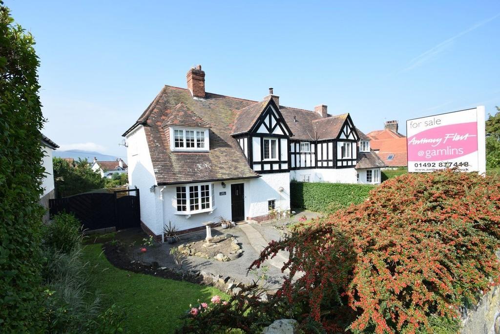 3 Bedrooms Semi Detached House for sale in Rose Cottage, Gannock Park, Deganwy