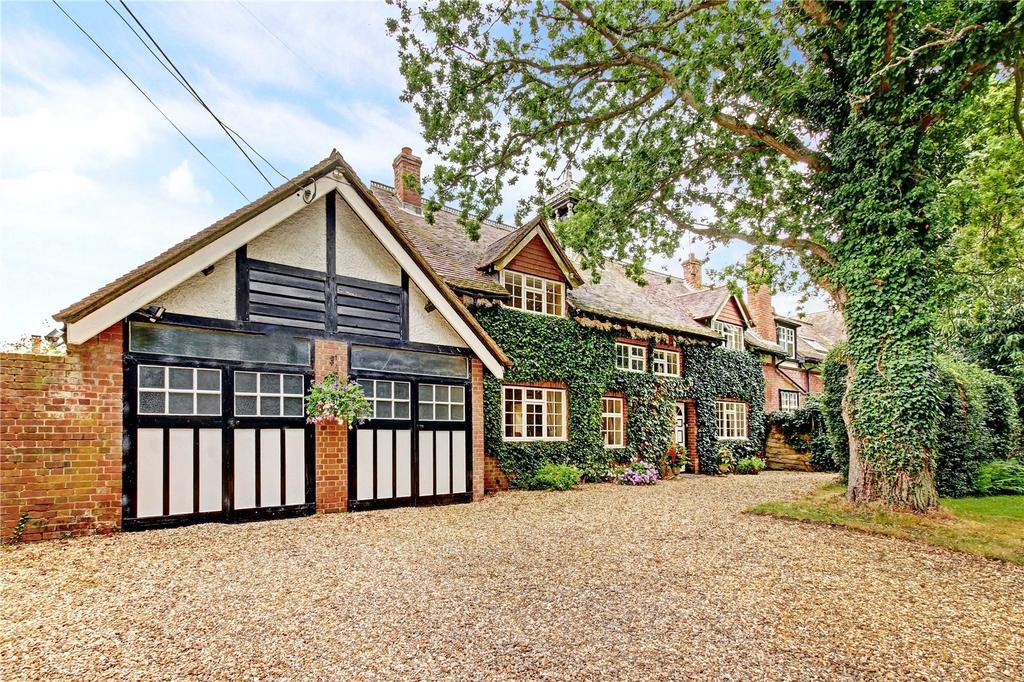 4 Bedrooms Semi Detached House for sale in Bucklebury Place Cottages, Upper Woolhampton, Reading, RG7