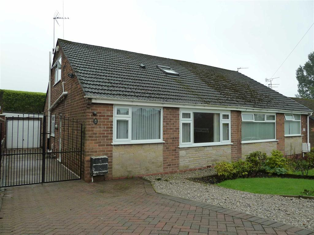 3 Bedrooms Semi Detached Bungalow for sale in Ashfield Crescent, Springhead, SADDLEWORTH, OL4
