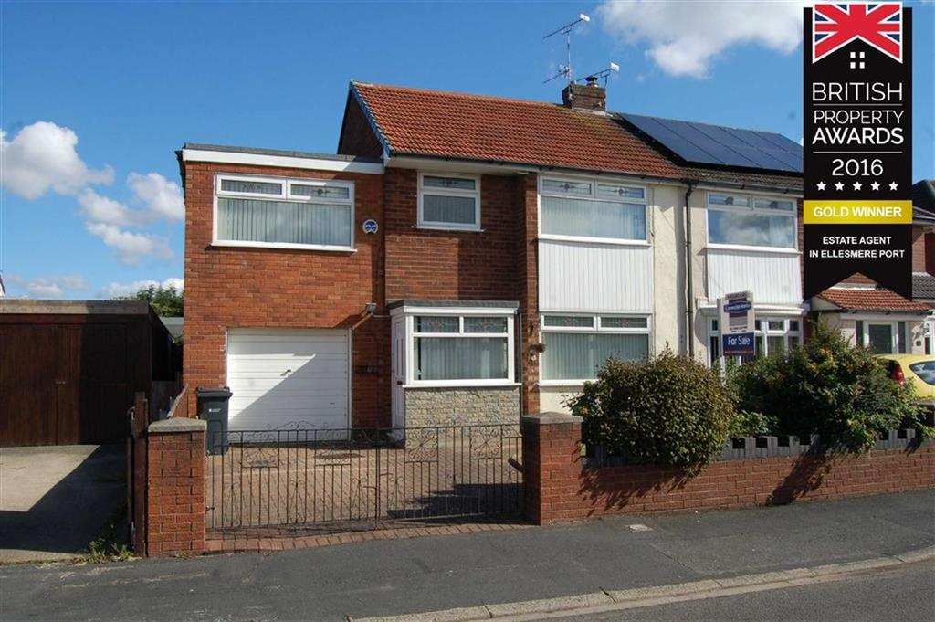 4 Bedrooms Semi Detached House for sale in Grasmere Road, Whitby, Ellesmere Port